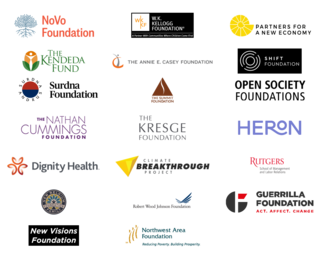 the logos for our funders