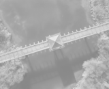 A bridge viewed from overhead