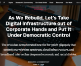 Inequality Digital Infrastructure