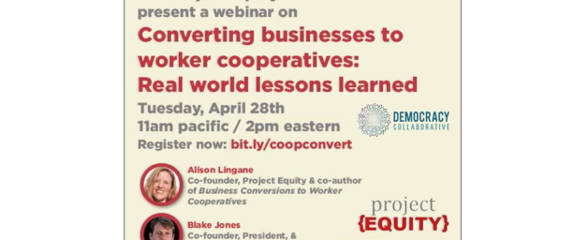 Converting businesses to worker cooperatives—real world lessons learned Screenshot