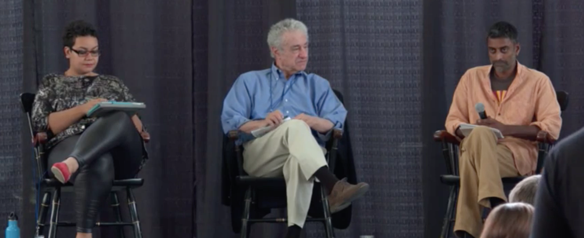 Gar Alperovitz in the closing plenary session of the Commonbound conference Screenshot