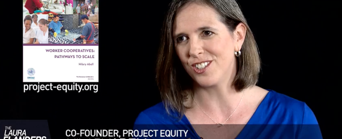 Hilary Abell talks with Laura Flanders about scaling worker cooperatives Screenshot